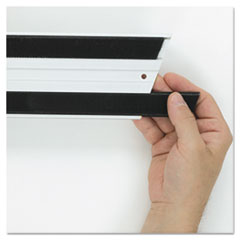 "Rubbermaid® Commercial Hook and Loop Replacement Strips, 1.1"" x 18"", Black"