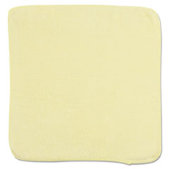 Rubbermaid® Commercial Microfiber Cleaning Cloths, 12 x 12, Yellow, 24/Bag
