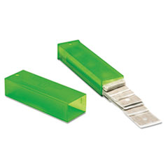 "Unger® ErgoTec Glass Scraper Replacement Blades, 4"" Double-Edge, 25/Pack"