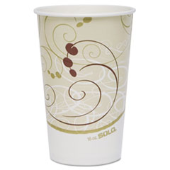Dart® Paper Cold Cups, 16 oz., Symphony Design, 50/Bag