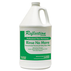Theochem Laboratories Rinse-No-More Floor Cleaner, Lemon Scent, 1 gal, Bottle, 4/Carton