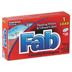 Fab® Dispenser-Design HE Laundry Detergent Powder, Ocean Breeze, 1 oz Box, 156/Carton