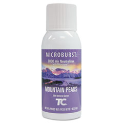 Rubbermaid® Commercial Microburst 3000 Refill, Mountain Peaks, 2 oz Aerosol, 12/Carton