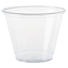 Dart® Ultra Clear Cups, Squat, 9 oz, PET, 50/Bag, 1000/Carton