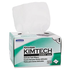 Kimtech™ Kimwipes, Delicate Task Wipers, 1-Ply, 4 2/5 x 8 2/5, 280/Box