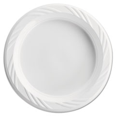 Chinet® Plastic Plates, 6 Inches, White, Round, Lightweight, 10/Pack