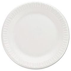 "Dart® Non-Laminated Foam Dinnerware, Plates, 7""Diameter, White,125/Pack,8/Carton"