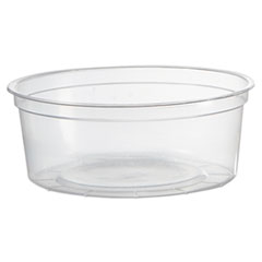 WNA Deli Containers, Clear, 8oz, 50/Pack, 10 Pack/Carton