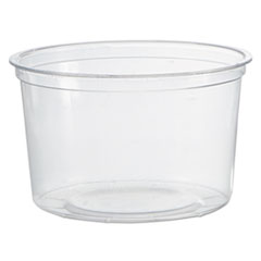 WNA Deli Containers, Clear, 16oz, 50/Pack, 10 Packs/Carton