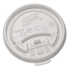 Dixie® Plastic Lids for Hot Drink Cups, 10oz, White, 1000/Carton