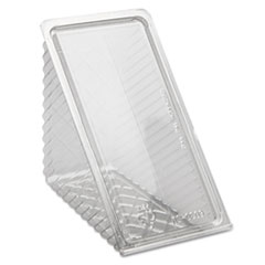 Pactiv Hinged Lid Sandwich Wedges, Plastic, Clear, 6 1/2 x 3 x 3 1/4, 85/PK, 3 PK/CT