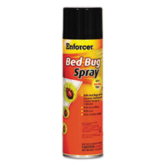 Enforcer® Bed Bug Spray, 14 oz Aerosol, For Bed Bugs/Dust Mites/Lice/Moths, 12/Carton