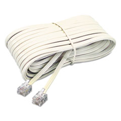 Telephone Extension Cord, Plug/Plug, 25 ft., Ivory