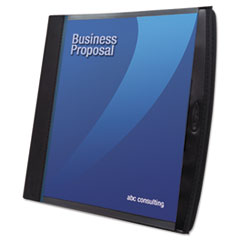 Smart-View Multi-Ring Presentation Book, 12 Letter-Size Sleeves, Black/Blue
