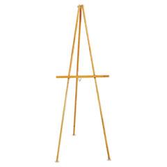 """Quartet® Lightweight Tripod Floor Easel, 64"""" High, Natural Oak"""
