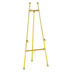 "Decorative Display Easel, 59"" High, Brass/Brass Finish"