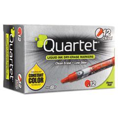 Quartet® EnduraGlide Dry Erase Marker, Chisel Tip, Red, Dozen