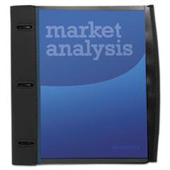 Wilson Jones® Smart-View Three-Ring Report Cover, Ring Fastener, 8.5 x 11, Black/Blue/Black