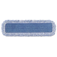 "Rubbermaid® Commercial High Absorbency Mop Pad, Nylon/Polyester Microfiber, 18"" Long, Blue"