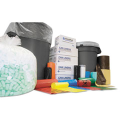 """Inteplast Group High-Density Interleaved Commercial Can Liners, 60 gal, 12 microns, 43"""" x 48"""", Clear, 200/Carton"""