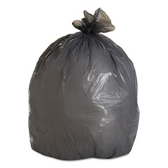 "Boardwalk® Low-Density Waste Can Liners, 30 gal, 0.95 mil, 30"" x 36"", Gray, 100/Carton"