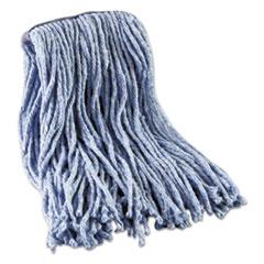 Boardwalk® Mop Head, Standard Head, Cotton/Synthetic Fiber, Cut-End, 12-Oz., Blue BWK2016B