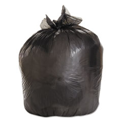 "Boardwalk® Low-Density Waste Can Liners, 33 gal, 0.5 mil, 33"" x 39"", Black, 200/Carton"