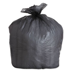 "Boardwalk® High-Density Can Liners, 56 gal, 19 microns, 43"" x 47"", Black, 150/Carton"