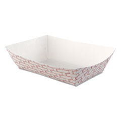 Boardwalk® Paper Food Baskets, 2.5lb Capacity, Red/White, 500/Carton