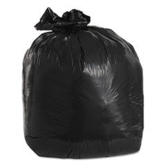 "Trinity Plastics Low-Density Can Liners, 20 gal, 1.5 mil, 30"" x 36"", Black, 100/Carton"