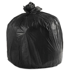 "Boardwalk® Low-Density Waste Can Liners, 45 gal, 0.6 mil, 40"" x 46"", Black, 100/Carton"