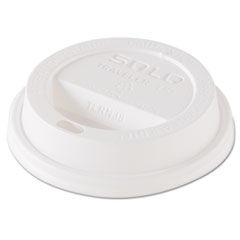 Dart® Traveler Dome Hot Cup Lid, Fits 8oz Cups, White, 100/Pack, 10 Packs/Carton