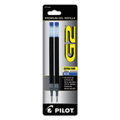 Pilot® Refill for Pilot Gel Pens, Extra-Fine Point, Blue Ink, 2/Pack