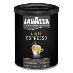 Lavazza Caffe Espresso Ground Coffee, Medium Roast, 8 oz Can