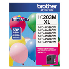 Brother LC203M Innobella High-Yield Ink, 550 Page-Yield, Magenta