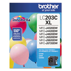Brother LC203C Innobella High-Yield Ink, 550 Page-Yield, Cyan