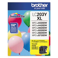 Brother LC203Y Innobella High-Yield Ink, 550 Page-Yield, Yellow