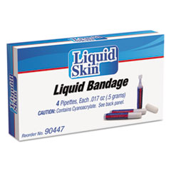 PhysiciansCare® by First Aid Only® Liquid Bandage, 0.017 oz Pipette, 4/Box