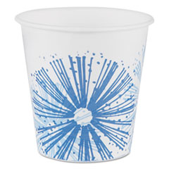 Dart® Alcohol-Resistant Treated Paper Cold Cups,3oz, Starlite/White-Blue,100/PK, 24/CT