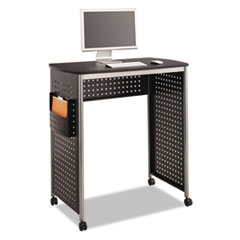 """Safco® Scoot Stand-Up Desk, 39.5"""" x 23.25"""" x 41.75"""" to 42"""", Black"""