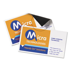 Avery® Magnetic Business Cards, 2 x 3 1/2, White, 10/Sheet, 30/Pack