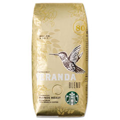 Starbucks® VERANDA BLEND Coffee, Light Roast, Whole Bean, 1 lb Bag