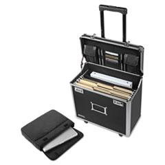 Vaultz® Locking Mobile Rolling Business Case, 10 x 16 x 15, Black
