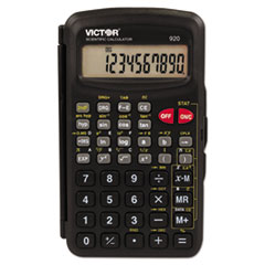 Victor® 920 Compact Scientific Calculator with Hinged Case,10-Digit, LCD