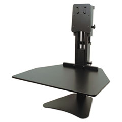"""Victor® High Rise Standing Desk Workstation, 28"""" x 23"""" x 10.5"""" to 15.5"""", Black"""