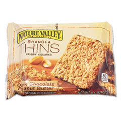 Nature Valley® Dark Chocolate Peanut Butter Granola Thins, 0.6 oz, Individually Wrapped, 15/Box