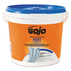 FAST TOWELS Hand Cleaning Towels, 7 3/4 x 11, 130/Bucket, 4 Buckets/Carton