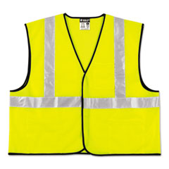 MCR™ Safety Class 2 Safety Vest, Lime Green w/Silver Stripe, Polyester, 4X-Large