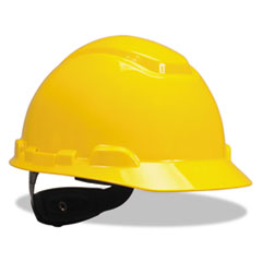 3M™ H-700 Series Hard Hat with Four Point Ratchet Suspension, Yellow