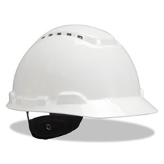 3M™ H-700 Series Hard Hat with Four Point Ratchet Suspension, Vented, White